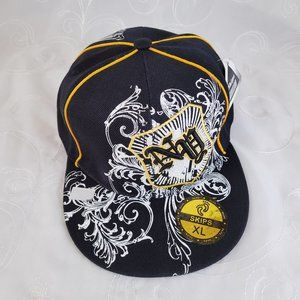 Skips XL Fitted NY Hat Cap Blk White Yellow